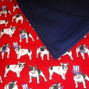 Cottage Rose Baby Blankets Accessories - Patriotic Boston Terrier Baby Blanket